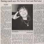 "2/7/2008 – Dating coach says ""It's Never Too Late for Love"" – Milford Mirror"