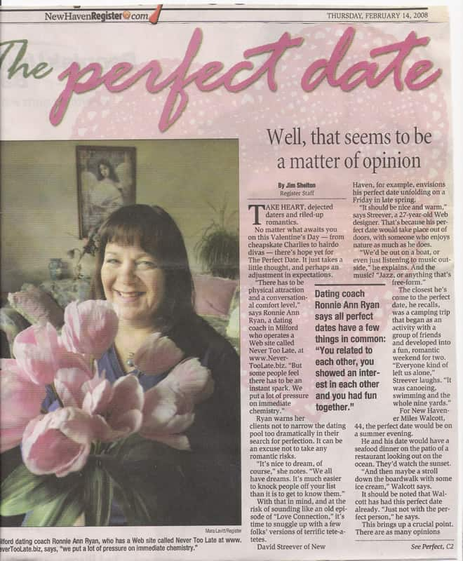 2/14/2008 - The Perfect Date - New Haven Register