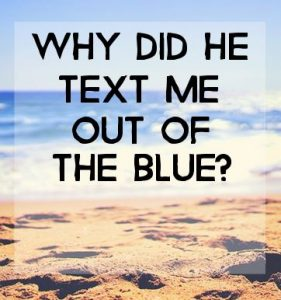 Me The Text Out He Of Blue Why Does