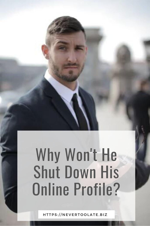 he won't take down his online profile