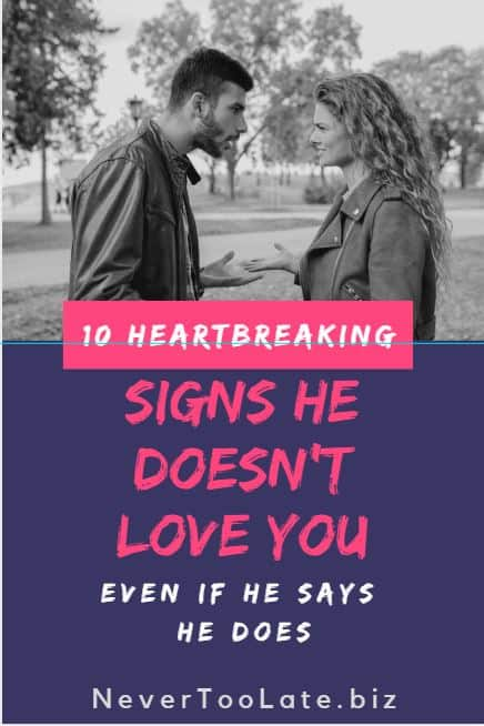 10 Heartbreaking Signs He Doesn T Love You Even If He Says He Does Does he love you is a song written by sandy knox and billy stritch, and recorded as a duet by american country music artists reba mcentire and linda davis. 10 heartbreaking signs he doesn t love
