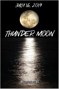 thunder moon - full moon over water