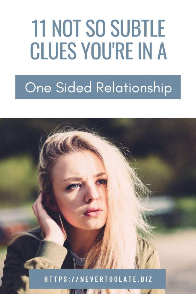 one sided relationship