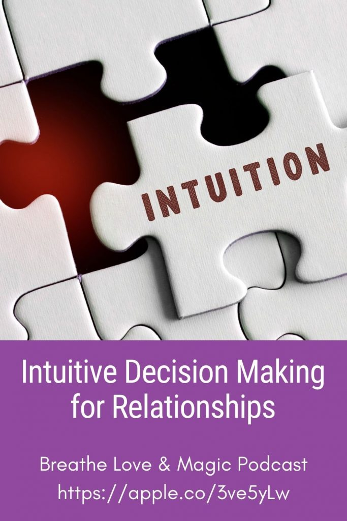 how to use your intuition for your love life